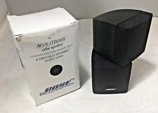 Bose Jewel Double Cube Speakers Lifestyle Acoustimass Black Sealed