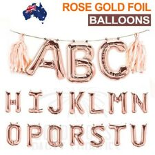 "16""/40cm Alphabet Letter Foil Balloon Rose Gold Birthday Wedding Party Decor #LE"
