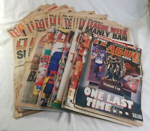 Rugby League Week 1972 to 1995 Editions 43 Magazine Newspaper Pack NRL Finals