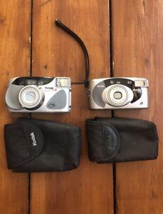 2 X Kodak Point And Shoot Film Cameras KE85 Easyload 35 & Advantix F600 Untested