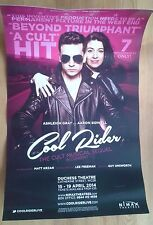 """12.5x20"""" Cool Rider poster Duchess Theatre 2014 Ashleigh Gray Aaron Sidwell"""