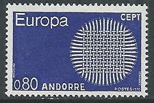 1970 ANDORRA FRANCESE EUROPA 80 CENT MNH ** - G19