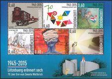 Lussemburgo 2015 fine della seconda guerra mondiale/WAR/MILITARY/Pace/Ferrovia/PRIGIONIERO 6 V M/S (lu10145)