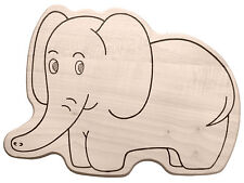 Frühstücksbrett Frühstücksbrettchen Kinderbrettchen in Tierform Motiv: Elefant