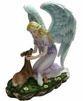 Large Angel and Woodland Companions Sculpture Statue Mythical Creatures Ornament