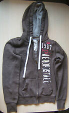 Aeropostale Brown Hooded Sweatshirt Full Zip Hoodie Women's Size S Small