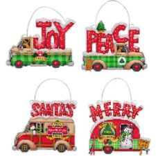 Counted Cross Stitch Kit HOLIDAY TRUCK ORNAMENTS Dimensions New Release