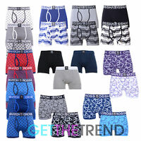 Mens 2/3 Pack Crosshatch Designer Boxers Shorts Underwear Trunks Multipack Set