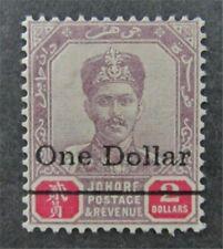 nystamps British Malaya Johore Stamp # 55 Mint OG H $75