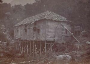 1910 ORIGINAL PHOTO CHINA HONG KONG CHINESE HOUSE ON THE ISLAND