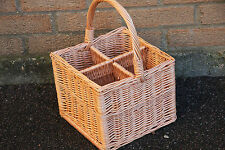 Wicker Bottle Carrier Basket -HANDMADE - IV
