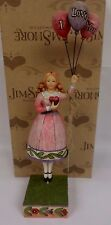 Heartwood Creek Jim Shore I Love You Girl with Balloons Figurine 4007237 w/ Box
