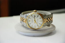Rolex 1500 Series Oyster Perpetual Date 18k SS Auto Watch Year 1969