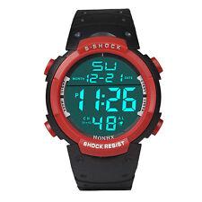 Fashion Men's LCD Digital Stopwatch Date Boy Sports Wrist Watches Waterproof Hot