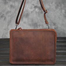 Vintage Men's Leather Messenger Shoulder Wristlet Envelope Clutch Bag Briefcase