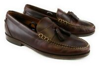 Johnston Murphy Mens size 9 M Slip On Tassel Loafers Brown Leather Dress Shoes