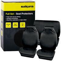 Car Seat Protector Full Set Cover Non-slip Waterproof Universal Fit Airbag