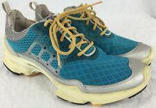 Womens ECCO BIOM: B Natural Motion Shoes Aqua Blue Silver Euro 38 (US 7 1/2 - 8)