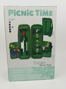 Picnic Time Wine Case Insulated Outdoor Travel Bottle Tote Wine Service Unused