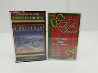 Hallmark Christmas Cassette Tapes Lot of 2 Listen To The Joy & Tis The Season