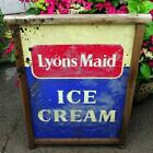 Old Original Vintage 1960s Lyons Maid Ice Cream Metal Advertising Sign Beach Hut