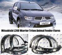 Mitsubishi L200 Fender Flares Triton Wheel Arches For 2005-2009 Black Warrior