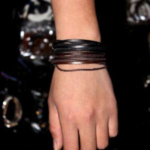 High Quality Woven Leather Waistband Bracelets Vintage Jewellery Bracelet