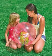 INTEX SWIMMING POOL CHILDRENS AQUARIUM TRANSPARENT KIDS BEACH BALL FISH TOY