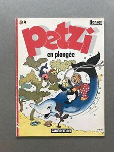 PETZI n°9 Petzi en plongée HANSEN 1987 Casterman