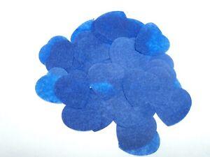 25 CONFETTI CONES INCLUDING BIODEGRADABLE TISSUE CONFETTI BLUE