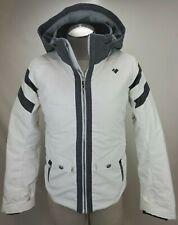 Obermeyer Girls Insulated Ski Jacket Coat Teen Large 14/16 Womens S White Hooded