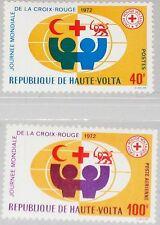 UPPER VOLTA OBERVOLTA 1972 369-70 271 C105 World Red Cross Day Rotes Kreuz MNH