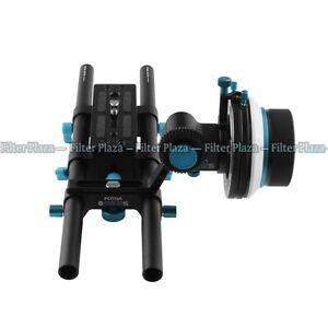FOTGA Rail System 15mm Rod Baseplate+ A/B Stop Follow Focus for DSLR Rig 5D2 5D3