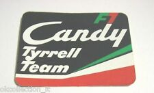 ADESIVO AUTO F1 anni '80 / Old Sticker F1 TYRREL TEAM CANDY (cm 10 x 8)