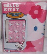 "Hello Kitty Fabric Bathroom Shower Curtain 72"" x 72"""