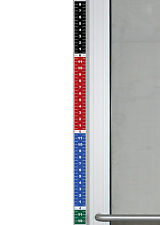 """1 - Colorful Security Height Ruler Tape Door Frame 1.75""""W x 35""""H Vinyl Sticker"""