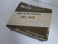 Icom - 47E.. (Embalaje Original-Caja y Insertos solamente)... radio _ trader _ Irlanda.