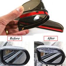 Car Rearview Mirror Rainproof Cover Mirror Rain Snow Eyebrow Transparent Black