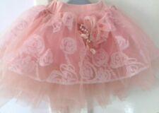 Dusky Pink Flower Baby Girl Cupcake Skirt Birthday Party Gift  Pettiskirt Tutu