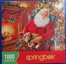 jigsaw puzzle 1000 pc Springbok Santa's Cat Nap Christmas Donna Gelsinger