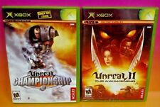 Unreal Championship + II: The Awakening Microsoft Xbox Games Complete 1-2 Player