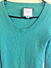 100% Cashmere Sweater Size Medium Green Teal Color