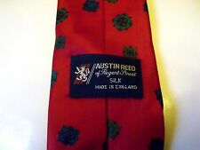 AUSTIN REED REGENT ST 100% PURE SILK RED MIX MENS TIE EXCELLENT CONDITION  # 239