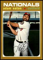 Adam Eaton 2020 Topps Heritage 5x7 Gold #320 /10 Nationals