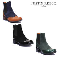 Justin Reece Olivia Women Suede Leather Chelsea Boots - Colors UK Size 3 - 8
