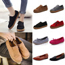 Women's Leather Moccasin Shoes Casual Flats Driving Peas Loafers Walking Slip On