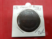 ENGLAND GREAT BRITAIN GEORGES III PENNY 1793 REF25