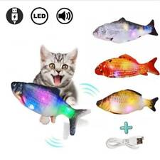 USB Electric Moving 3D Cat Fish Pet Kitty Toy Wagging Fish Plush Catnip cld