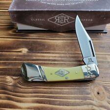 Rough Rider Lockback Carbon Steel Yellow Handle Folding Pocket Knife RR1738