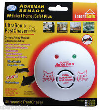 100% Original Aeokman Ultrasonic Mouse Rats Repellent Pest Chases Rats Away